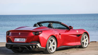 Ferrari Portofino - rear static roof open