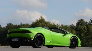 Lamborghini Huracan Spyder UK - rear quarter