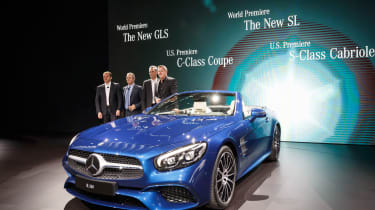 New Mercedes SL Roadster 2015 LA Show 3