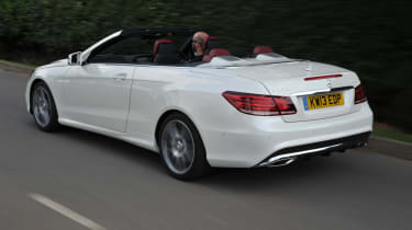 Mercedes E350 CDI Cabriolet rear view