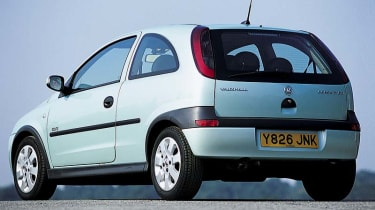 Rear view of Vauxhall Corsa