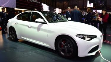 Alfa Romeo Giulia - Geneva show front white