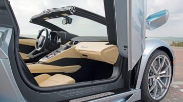 Lamborghini Aventador Roadster door and interior detail