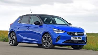 Blue Vauxhall Corsa-e
