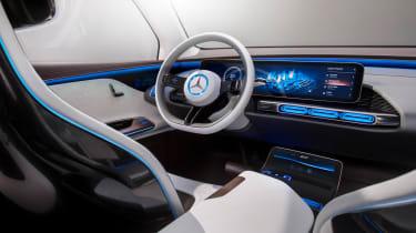 Mercedes EQ electric SUV - interior