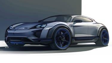 Porsche Mission E Cross Turismo - sketch