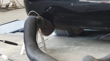 Emissions testing pipe