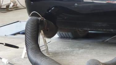 Emissions testing pipe