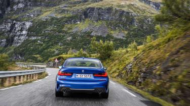 BMW 3 Series - blue full rear