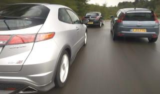 Honda Civic Type S v Vauxhall Astra Sport Hatch v Citroen C4 Coupe