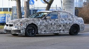 BMW M3 spy shot side three quarter