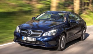 Mercedes E400 Coupe front tracking