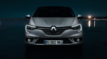 New Renault Megane Grand Coupe - front dark
