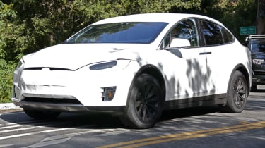 Tesla Model X spyshots front