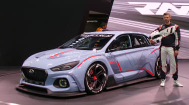 Hyundai RN30 Concept at Paris 2016 front