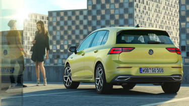 New Volkswagen Golf Mk8 leaked images - rear