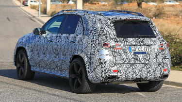 Mercedes GLE spy rear quarter