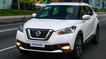Nissan Kicks SUV - front tracking