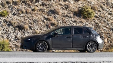 New Toyota Auris spied side