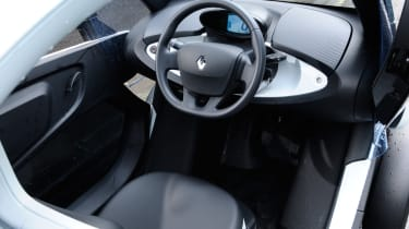 The Twizy's cabin is almost completely open to the elements - doors are optional and windows are zip-on.