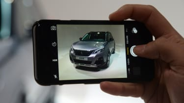 Peugeot 3008 big reveal - phone picture
