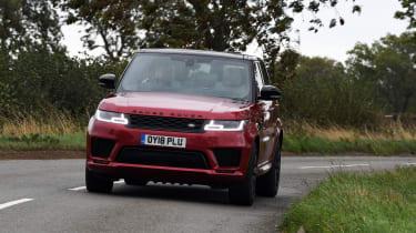 Range Rover Sport cornering