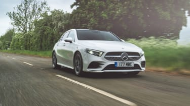 Mercedes A 180 d AMG Line tracking front