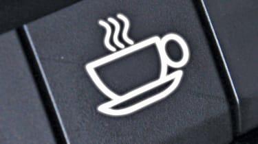 Tech or Trick April Fools: coffee machine in dashboard