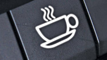 Tech or Trick April Fools: coffee machine in dashboard