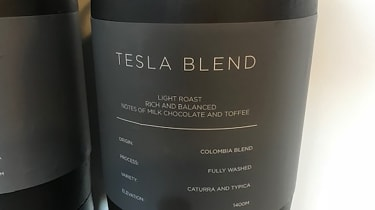 Tesla Factory Tour - coffee