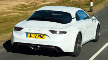Alpine A110 Pure - rear tracking