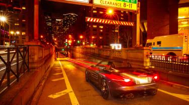 Jaguar F-Type SVR Tunnel Run - rear three quarter