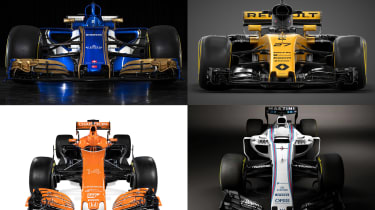 F1's new cars for 2017