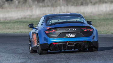 Alpine A110 Cup rear driving