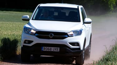 SsangYong Musso EX - full front