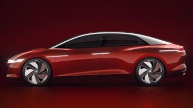 Volkswagen I.D Vizzion - studio red side