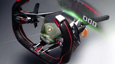 Lamborghini Lambo V12 Gran Turismo - steering wheel