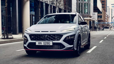 Hyundai Kona N - front tracking