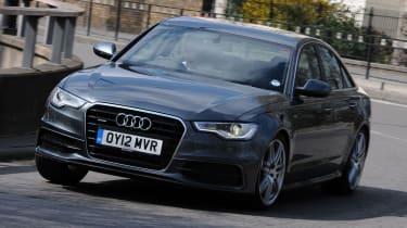 Audi A6 BiTDI S line front cornering