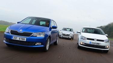 Skoda Fabia vs VW Polo & Vauxhall Corsa