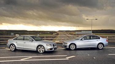 BMW 316d vs Audi A4 TDIe