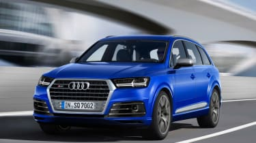 Audi SQ7 blue - front tracking