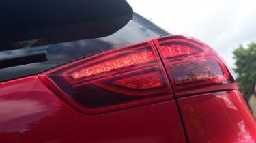 New Kia Niro Hybrid - rear lights