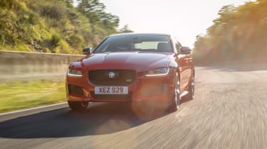 On track with a Jaguar XE