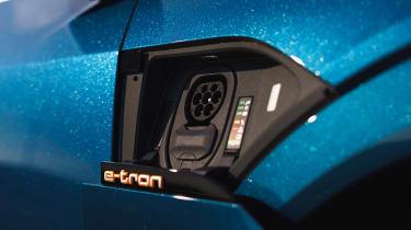 Audi e-tron - charging port