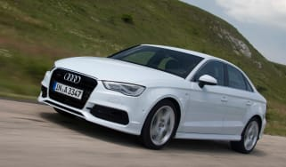 Audi A3 Saloon on the road