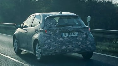 Toyota Aygo 2021 spy - rear