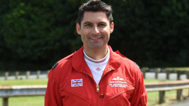 Red Arrows Aston Martin - portrait