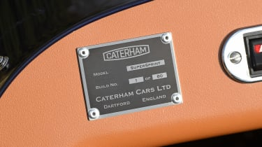 Caterham Seven SuperSprint - plaque