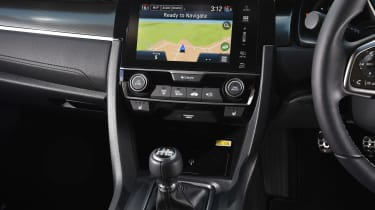 Honda Civic Diesel - centre console